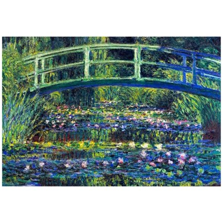 Claude Monet Water Lily Pond #2 Art Print Poster - 19x13 - Halloween Water Lily Description