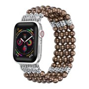 Posh Tech Apple Watch Faux Pearl Bracelet Band for iWatch Series 1,2,3,4,5