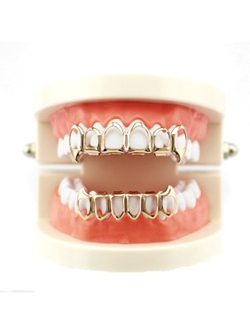 1Pcs Hip Hop Teeth Grillz Top And Bottom Mouth Teeth Grills Fashion Removable