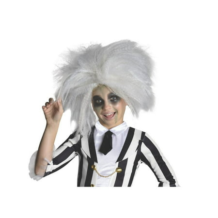 Halloween Child Beetlejuice Wig - White Wig For Kids