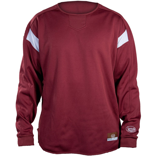 Louisville Slugger Adult Slugger Cold Weather Dugout Pullover, Maroon