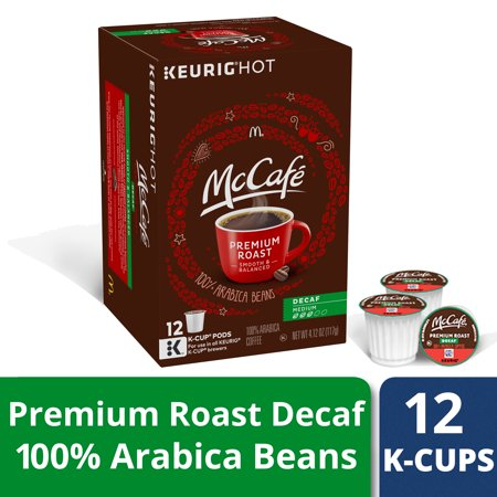 McCafé Decaf Premium Roast Coffee K-Cup Pods 12 (Decaffeinated K-cups)