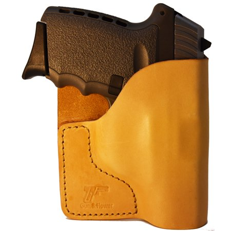 Tan Italian Leather Pocket Holster for SCCY CPX I & II and Similar (Sccy Cpx 2 Gen 2 9mm Review)