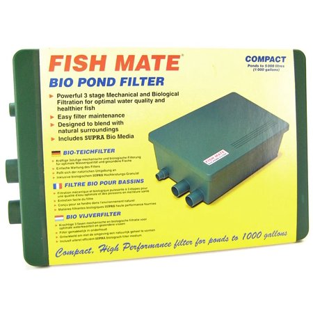 Fish Mate Compact Bio Pond Filter Bio Pond Filter 1000 - (Max Pond 1,000 Gallons - 500 GPH