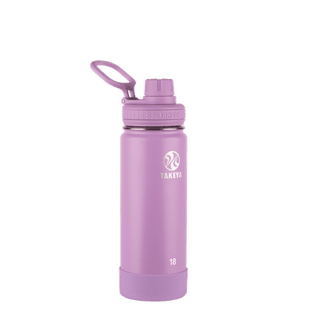 Takeya Actives Stainless Steel Water Bottle w/Spout lid, 18oz Lilac