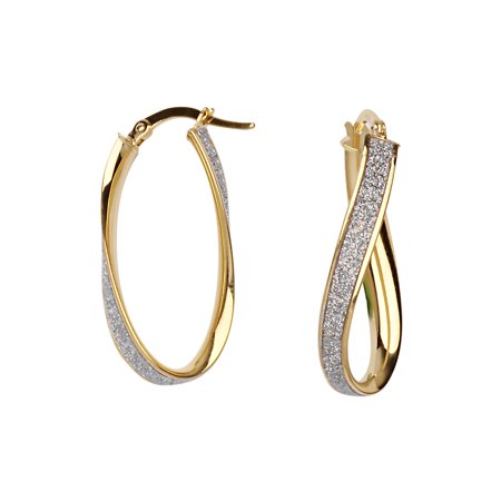 Gold Metal Glitter - SML TWIST 4MMM 1 ROW GLITTER LIGHTZ HOOP