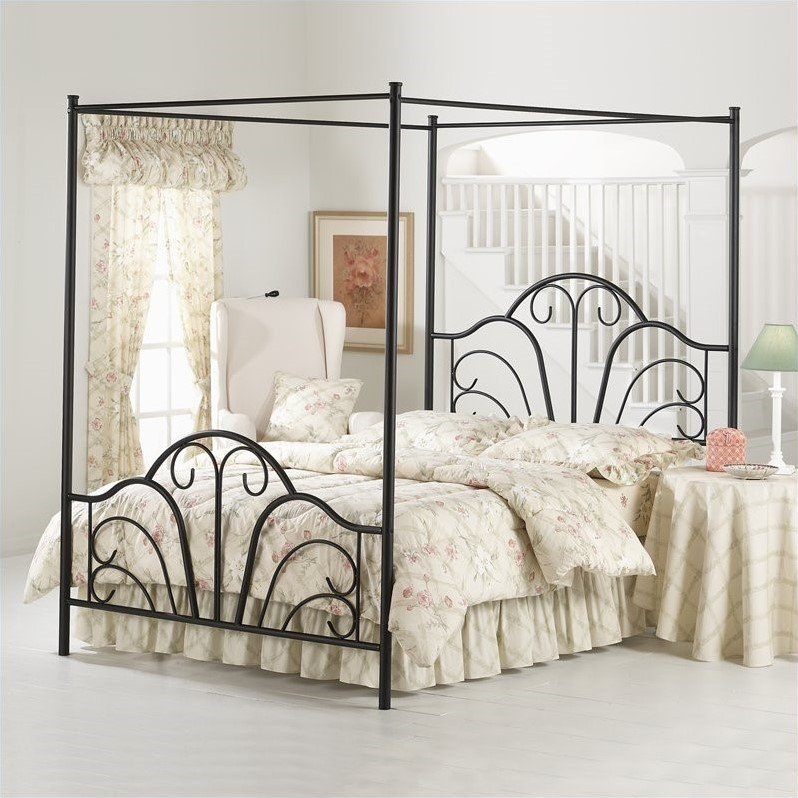 Hillsdale Furniture Dover Queen Bed with Bedframe, Black