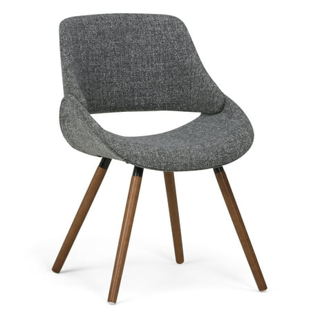 Brooklyn + Max Halston Mid Century Modern Bentwood Dining Chair in Grey Woven Fabric ()