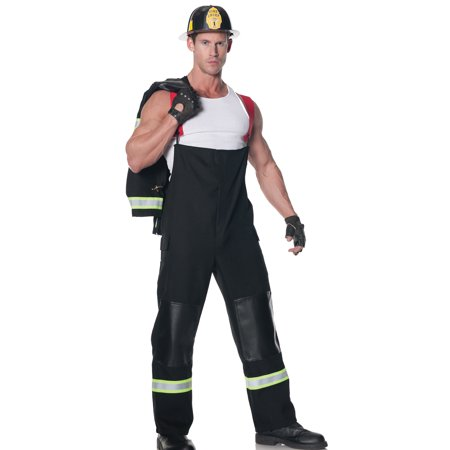Rescuer Fire Fighter Sexy Hot Shot Fireman Mens Halloween Party Costume