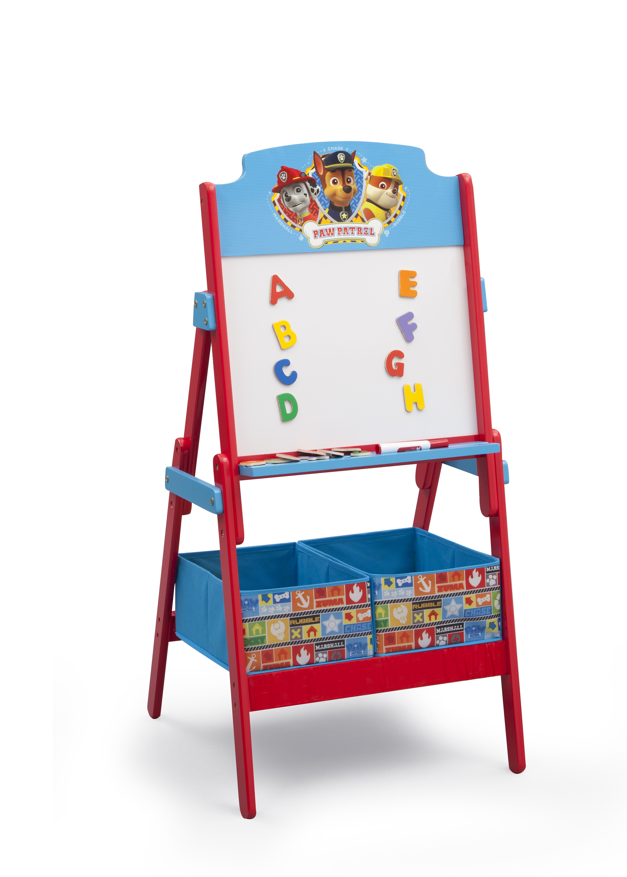 Paw Patrol Kids Toy Organizer Bin Children S Storage Box: Nick Jr. PAW Patrol Activity Easel With Fabric Toy Box