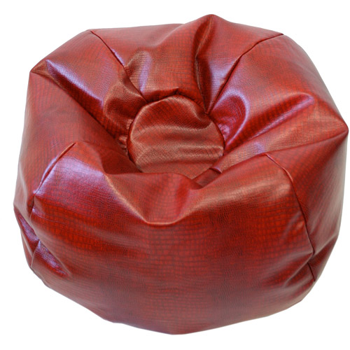 Large Tear Drop Snakeskin Vinyl Bean Bag