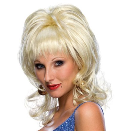 Womens Blonde Country Singer Cowgirl Dolly Parton Wig - Dolly Parton Halloween Wigs