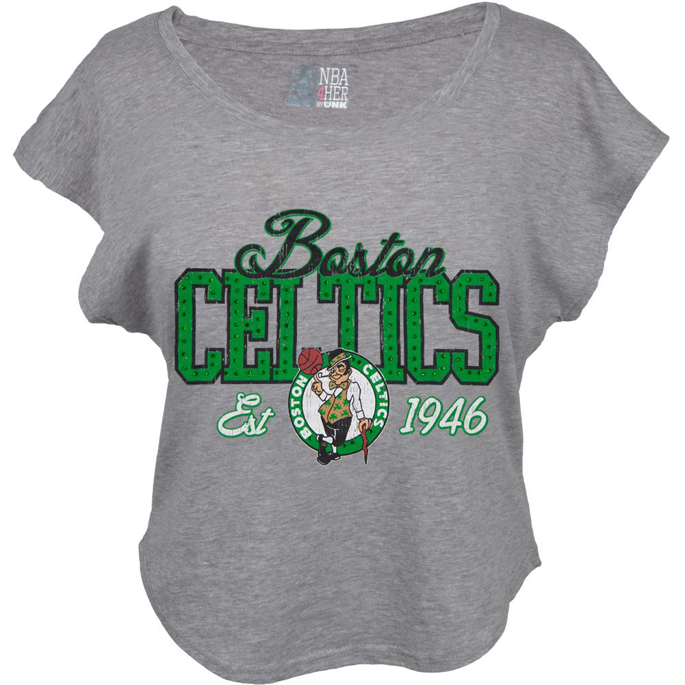 Boston Celtics - Finger Roll Cropped Juniors T-Shirt