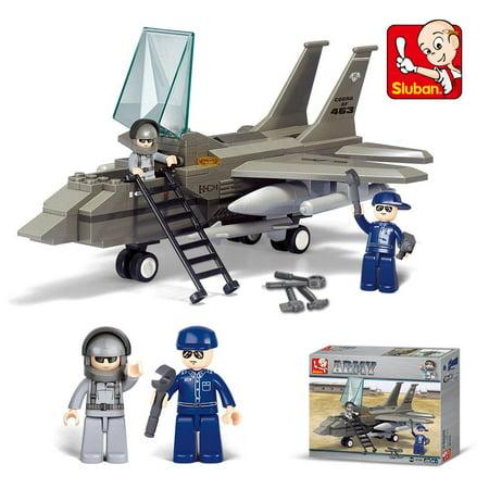 Elegantoss Mini Figures DIY Toy Building Blocks Set Airforce Airplane and Educational Kit For Kids (142 pcs) - Blocks For Kids