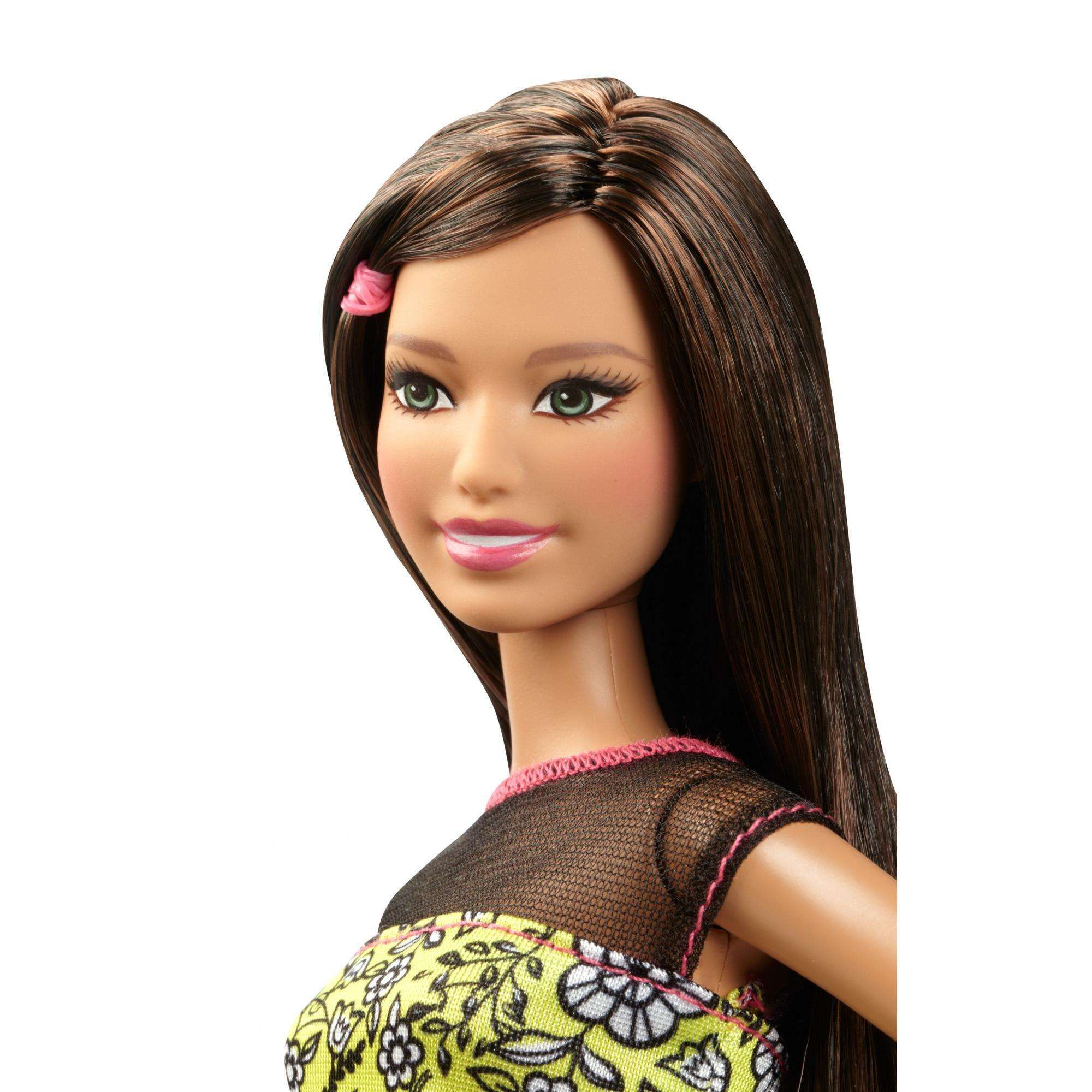 Barbie Fashionistas Doll, Flower Top with White Skirt
