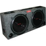 AUDIOP KIC100 10 in. Car Audio Subwoofer Box with 5 in. Tweeters