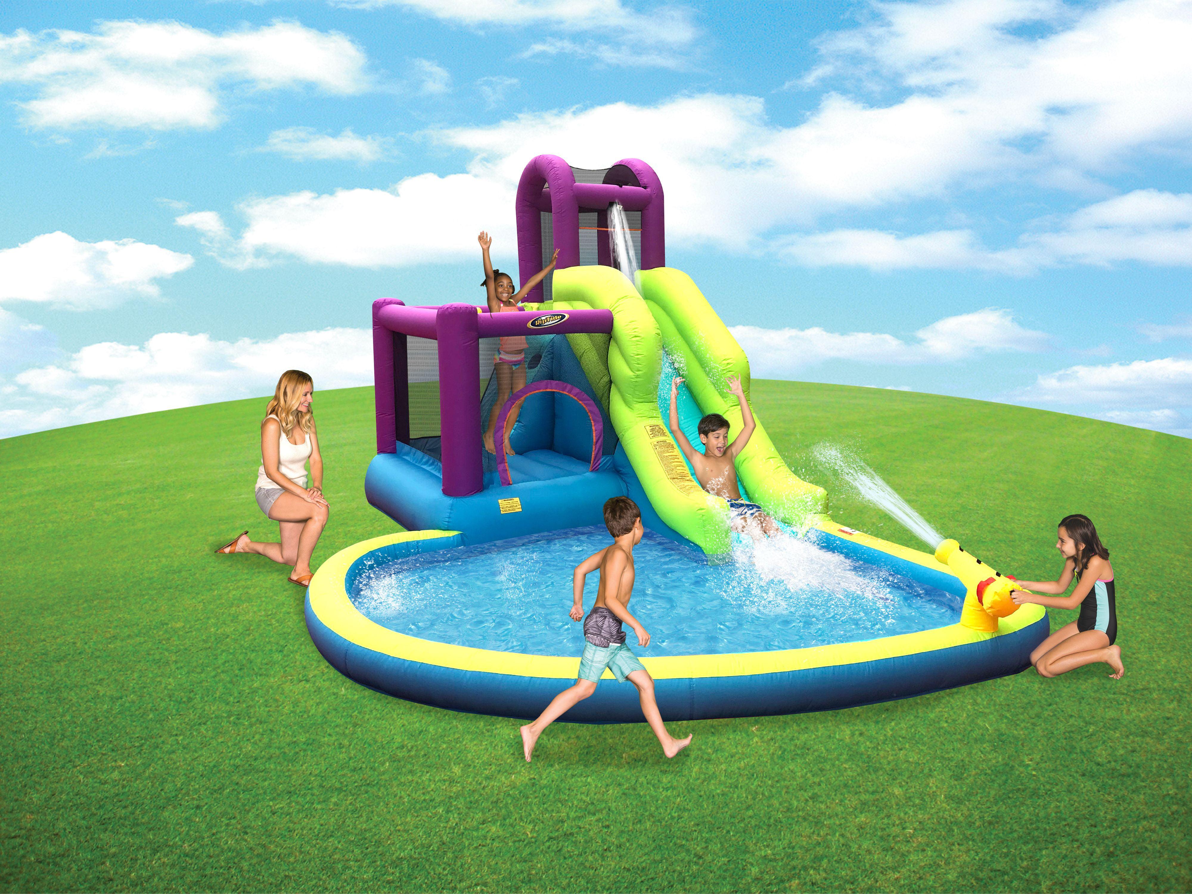Backyard Inflatable Jump N Slide Water Park - Walmart.com ...