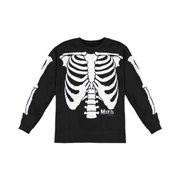Misfits Men's  Glow In The Dark Skeleton  Long Sleeve Black