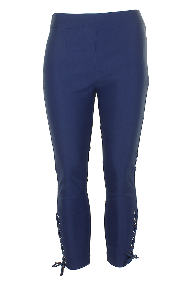 Xoxo Juniors Blue Depths Lace-Up Ankle Cropped Skinny Pants 8