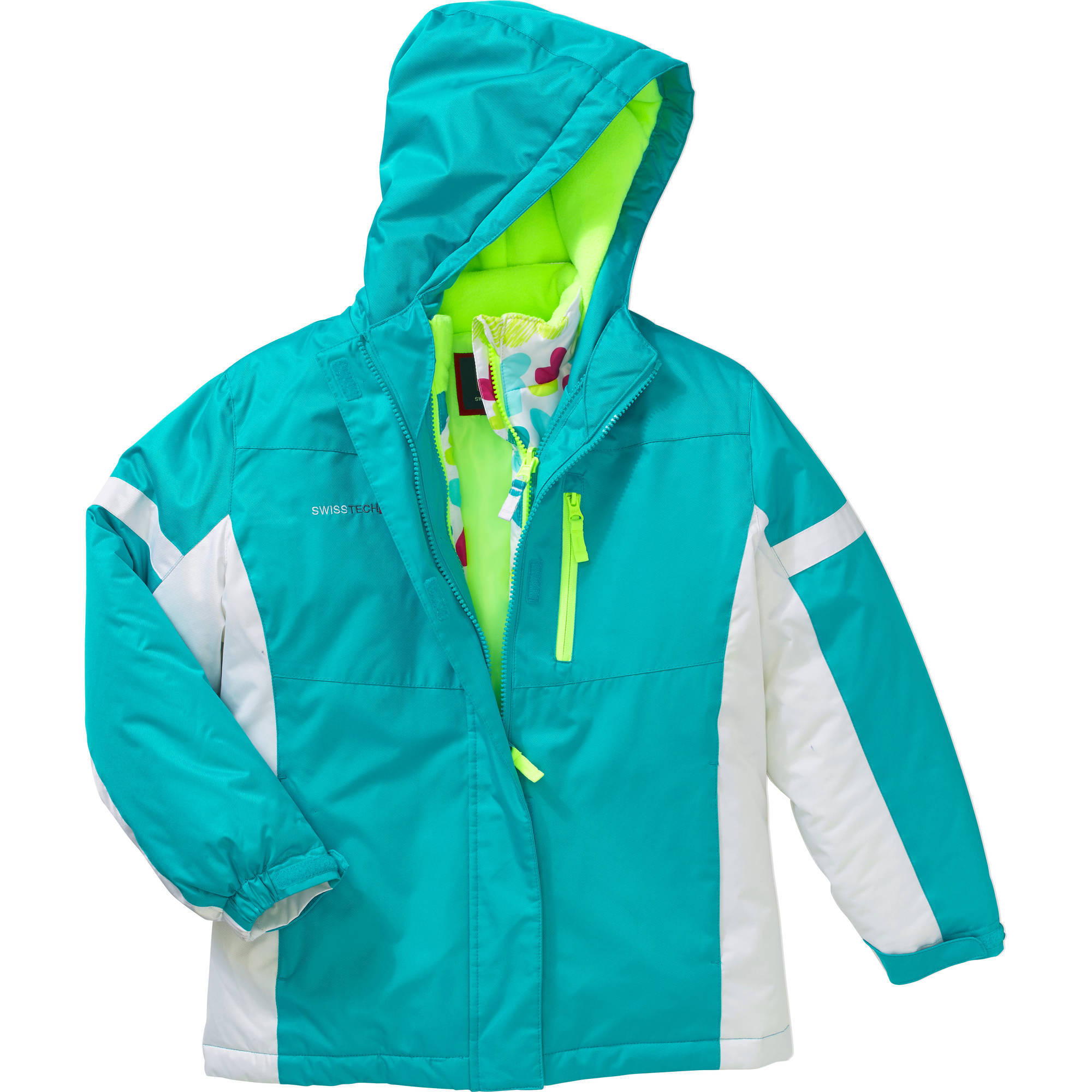 Swiss Tech Girls' 3 in 1 Systems Jacket