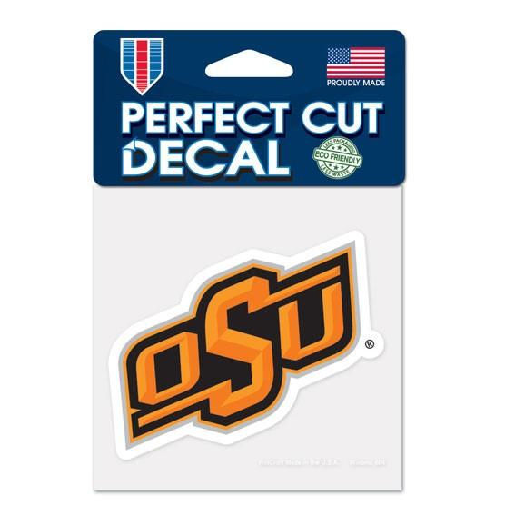 Oklahoma State Cowboys 4x4 Perfect-Cut Car Auto Decal Sticker
