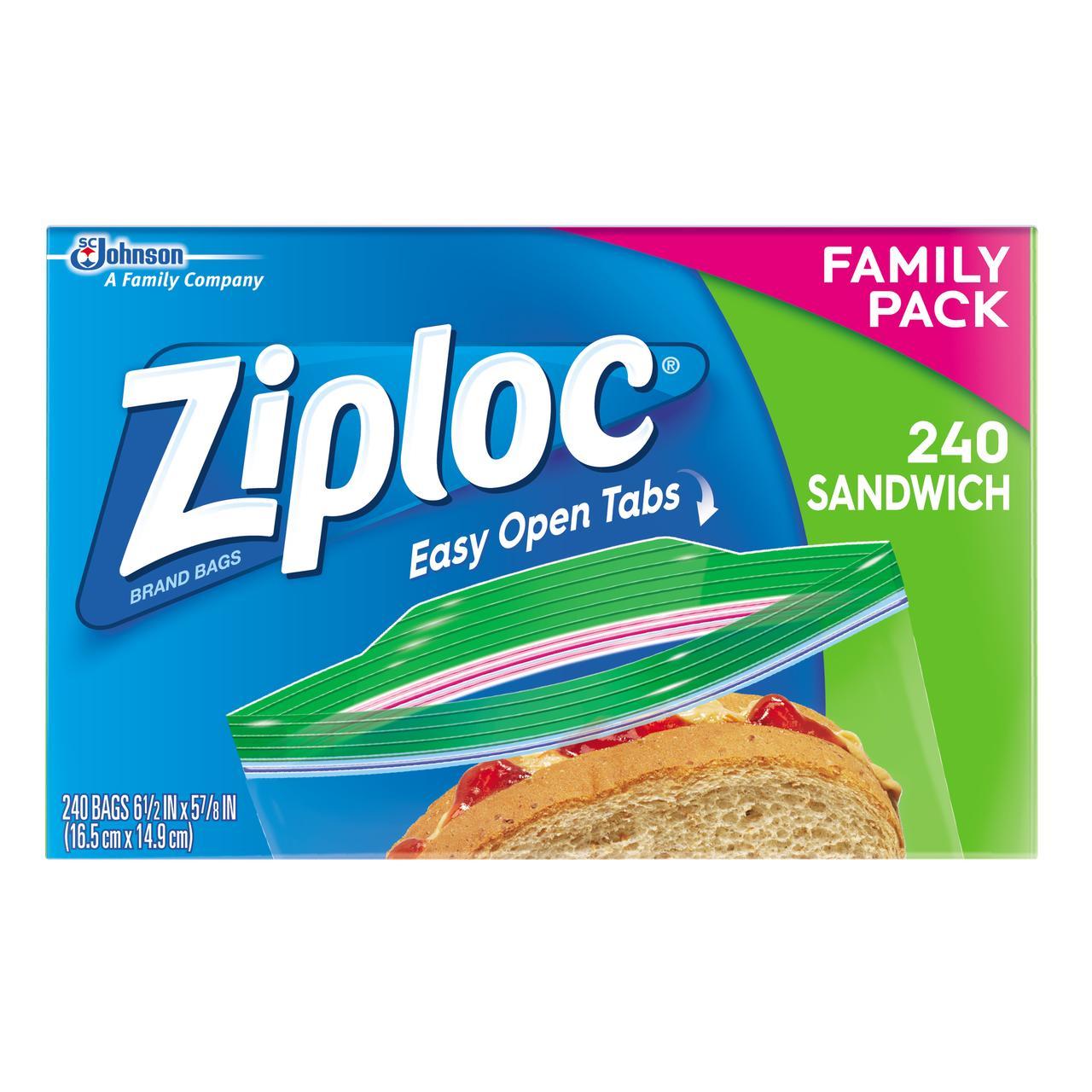 Ziploc Sandwich Bags 240 count