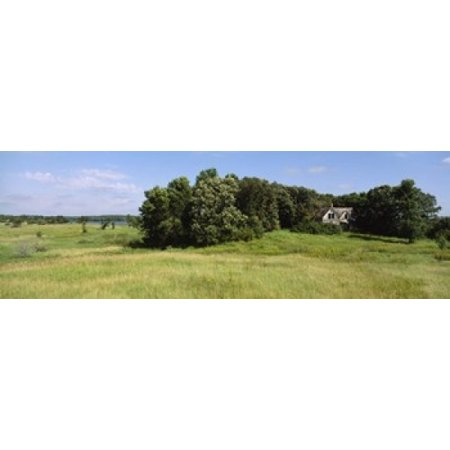 House in a field Otter Tail County Minnesota USA Poster (Sea Otter Tail)