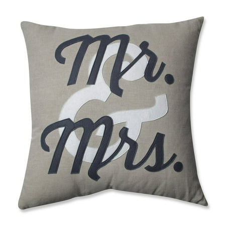 Pillow Perfect Mr. & Mrs. Throw Pillow