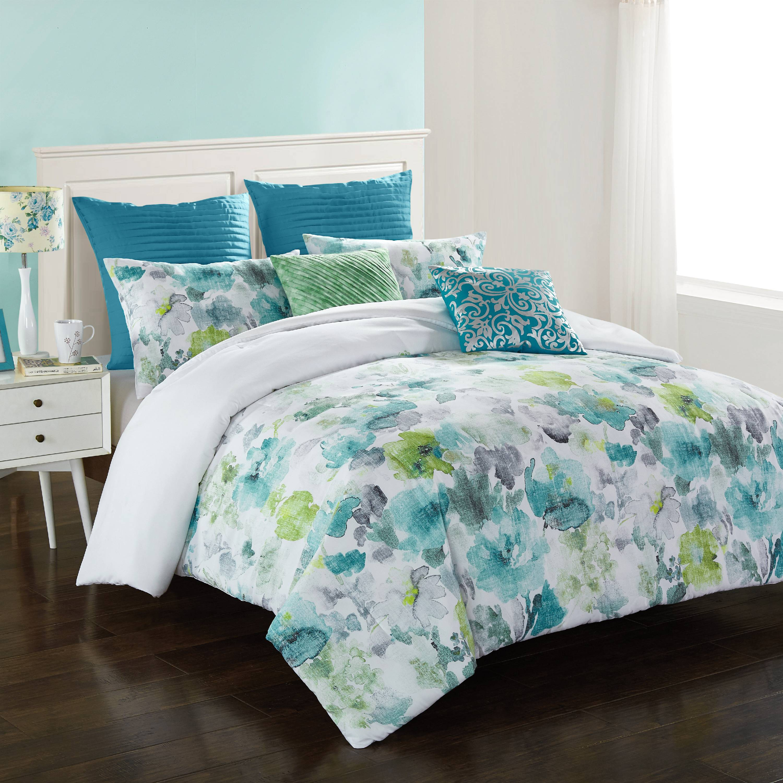 Better Homes & Gardens Watercolor Floral 7Pc Comforter Set