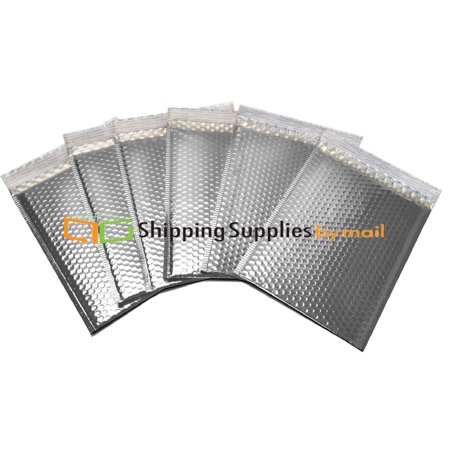 Metallic Bubble Mailers Silver Color Padded Envelopes 13
