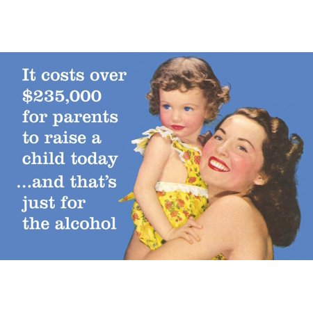 It Costs over $235,000 for Parents to Raise a Child Today…And That's Just for Alcohol Poster Wall Art By (Cost Of Raising A Child In Nyc)