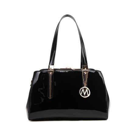 - MKF Collection Abree Patent Satchel Handbag by Mia K. Farrow