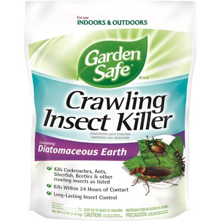 - Garden Safe Brand Crawling Insect Killer Containing Diatomaceous Earth, 4-lb