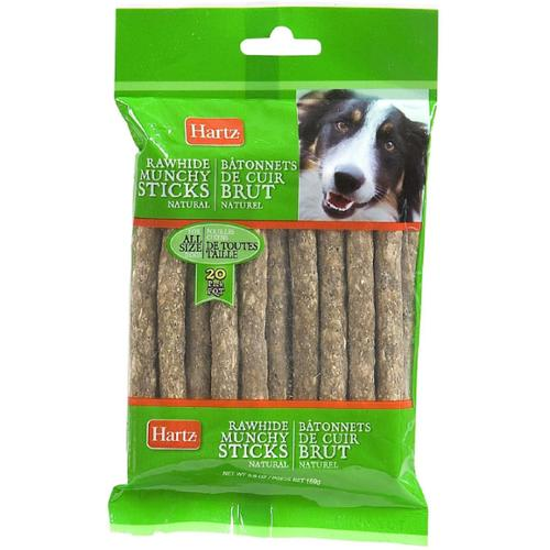 Hartz Natural Rawhide Munchy Sticks 20 ea (Pack of 3)