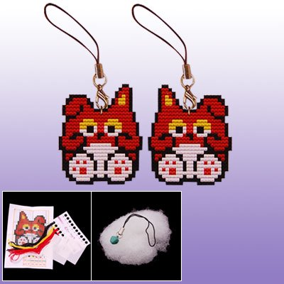 Double Side Cartoon Squirrel Shape Phone Strap X Stitch