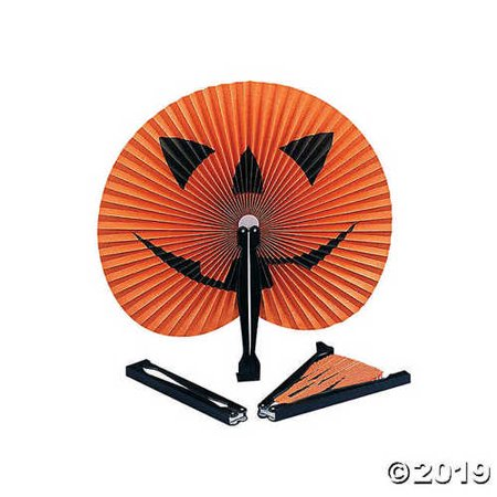 Jack-O'-Lantern Folding Fans - Halloween Party Favors
