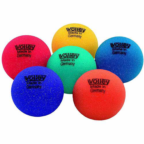 Sportime Volley Uncoated Foam Ball Set, Multiple Sizes, Assorted Color, Set of 6