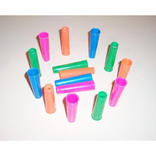 "12 LRG Plastic Tubes Bird Toy Parts Parrots 3 1/4"""