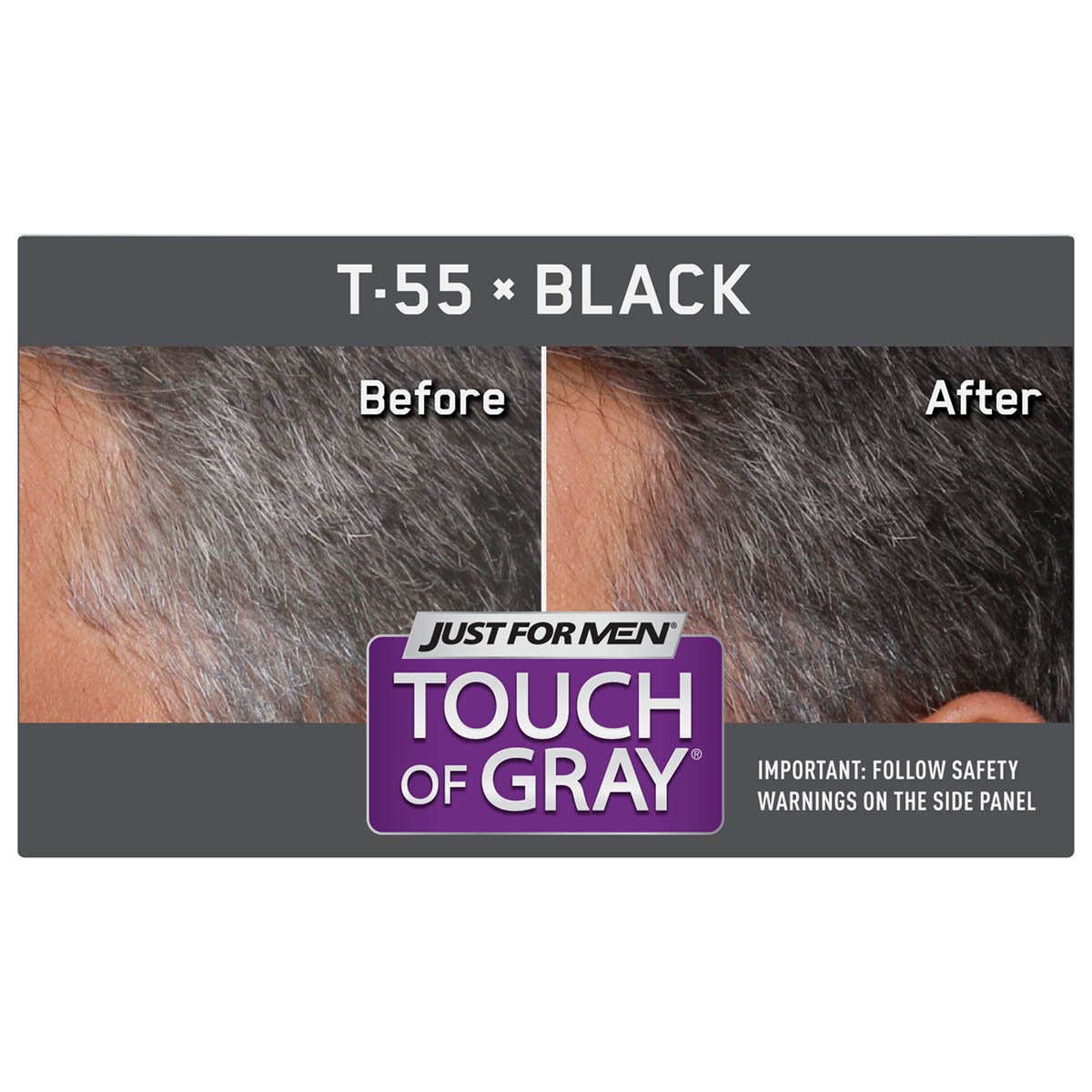 Just For Men Touch Of Gray Easy S Hair Color With Comb In Licator Black Shade T 55