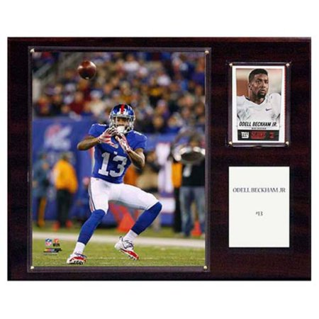 C And I Collectables Nfl 15W X 12H In  Odell Beckham Jr  New York Giants Player Plaque
