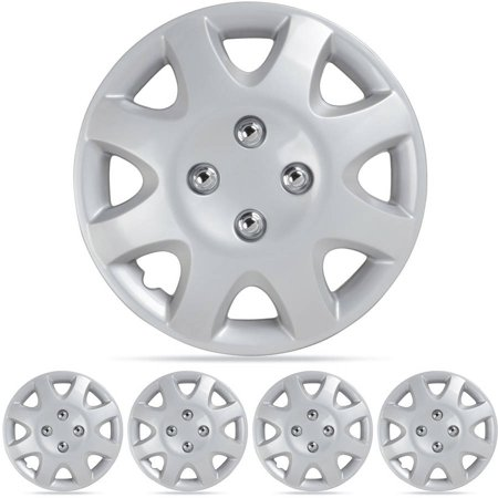 "BDK Honda Civic Style Hubcaps Wheel Cover 14"" Silver"