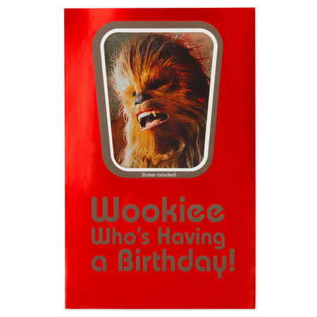 American Greetings Star Wars Wookiee Birthday Card For Boy With Foil