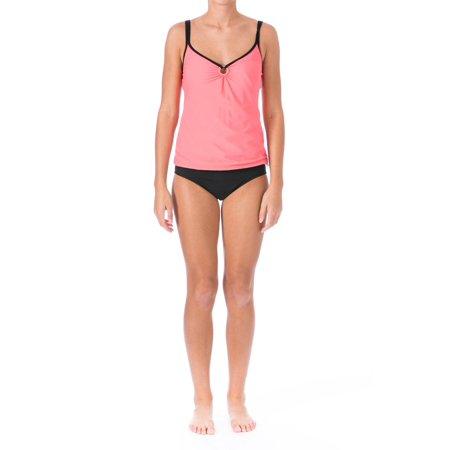 Mainstream Womens O-Ring Full Coverage Tankini Swimsuit (Coverage Tankini)