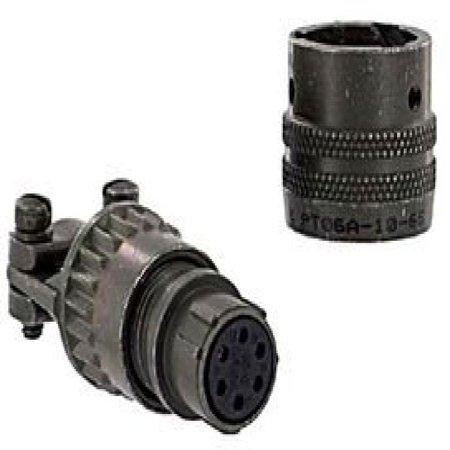 Amphenol Industrial Pt06a10 6S Sr  Circular Connector Plug  Size 10  6Pos  Cable