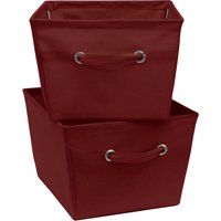 2 Pack Large Canvas Bins-Red