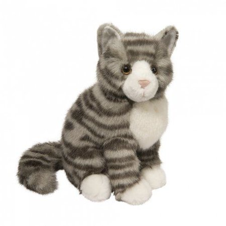 Nickle Grey Stripe Cat 9 inch - Stuffed Animal by Douglas Cuddle Toys (4380)](Cat Stuffed Animal)