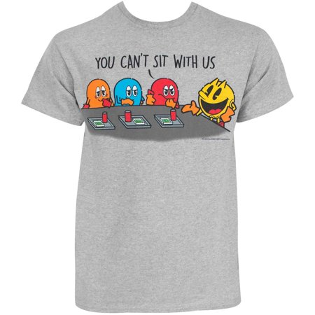 Pac-Man Sit With Us Adult T-Shirt](Pac Man Tie)