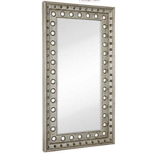 Majestic Mirror Huge Rectangular Silver Leaf With Black Rub Beveled Glass Decorative Wall Mirror