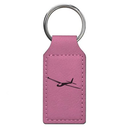 Keychain - Glider - Personalized Engraving Included (Pink Rectangle)