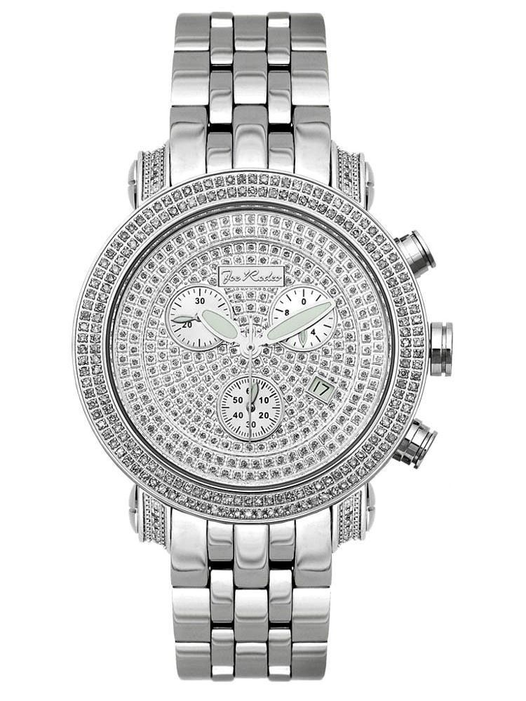 Men's Diamond Watch Classic JCL15 1.75 Ct Illusion Dial Chronograph